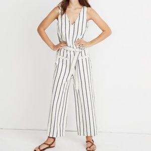 Madewell Striped Pull-On Jumpsuit